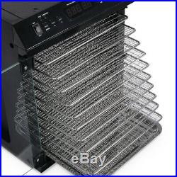 10 Tray Electric FOOD DEHYDRATOR Beef Jerky Snack Machine Fruit Dryer Meat Maker
