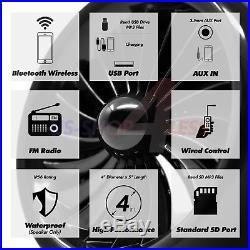 1000W Bluetooth Motorcycle Stereo 4 Speaker Audio MP3 System AUX USB SD FM Radio