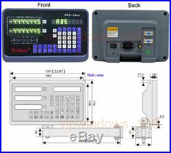 12 40 TTL Linear Scale 2Axis Digital Readout DRO Display Kit Milling Lathe US
