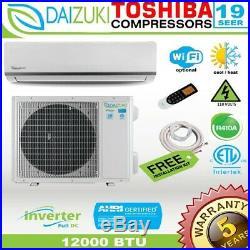12000 BTU Air Conditioner Mini Split 19 SEER INVERTER AC Ductless Heat Pump 110V