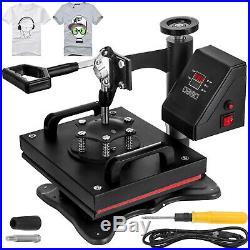 12X10 Digital Sublimation Heat Press Machine Transfer Clamshell T-shirt