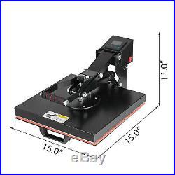 15 x 15 Digital Clamshell Heat Press Transfer T-shirt Sublimation Machine