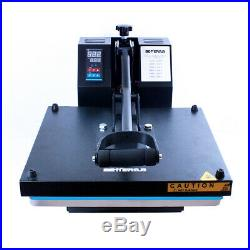 15x15 Clamshell Heat Press Machine + Sublimation Paper for T-Shirt Clothes US