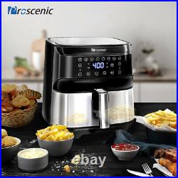 1700W Air Fryer 5.8QT Oilless Electric Oven LED APP Temp/Timer 8 Cooking Preset