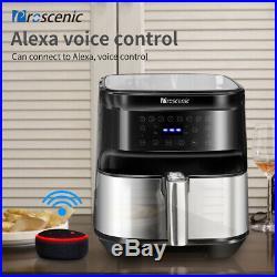 1700W Alexa Air Fryer 5,8qt Electric Hot air Oil less Low Fat Convection Oven