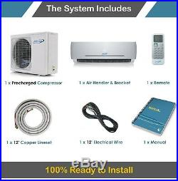 24000 BTU 21 SEER Ductless Mini Split Air Conditioner Heat Pump AirCon 2 Ton AC