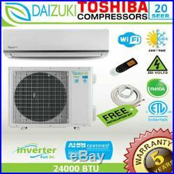 24000 BTU Air Conditioner Mini Split 20 SEER INVERTER AC Ductless Heat Pump 220V