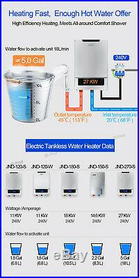27KW Digital Display Tankless Hot Water Heater Electric Instantenous Whole House