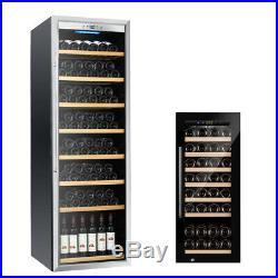 43/192 Bottles Wine Cooler Refrigerator Freestanding Thermostat Wine Cabinet
