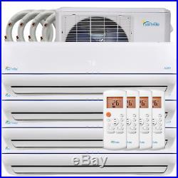 48000 BTU Quad Zone Ductless Mini Split Air Conditioner and Heat Pump 22 SEER