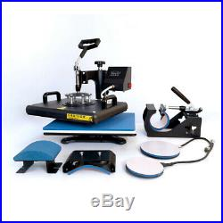 5 in 1 Combo Heat Press Machine Digital 12x15in for T-shirt Mugs Plate Hats Cup