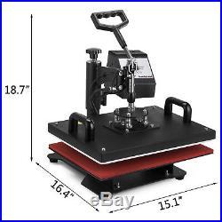 5 in 1 Digital Heat Press Machine 15X12 Transfer Sublimation T-Shirt Mug Hat