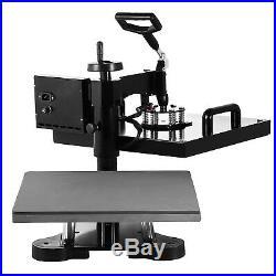 5 in 1 Heat Press Machine Digital Transfer Sublimation T-Shirt Mug Hat 15x15