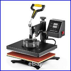 5 in 1 Heat Press Machine Digital Transfer Sublimation T-Shirt Mug Hat Plate Cap