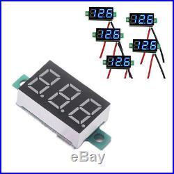 5X Mini Blue DC 3-30V LED Panel Voltmeter 3 Digital Display Voltage Meter 2Wires