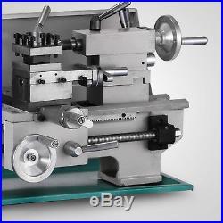 8x16 Mini Metal Lathe Variable-Speed 0-2250RPM 750W BenchTop Digital Display