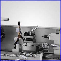 8x16 Mini Metal Lathe Variable-Speed 50-2500RPM 750W Bench Top Digital Display