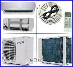 9000 BTU 22 SEER Ductless Mini Split Air Conditioner Heat Pump AirCon 3/4 Ton AC