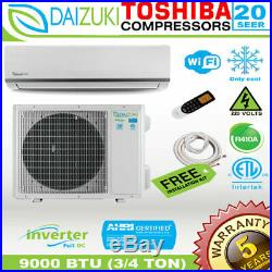 9000 BTU Air Conditioner Mini Split 20 SEER INVERTER AC Ductless Only Cool 220V