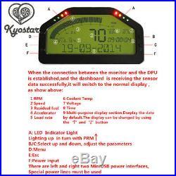 Auto Car Dash Race Display OBD2 Bluetooth Dashboard LCD Screen Digital Gauge Kit