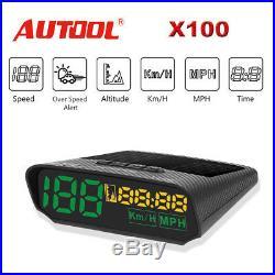 Autool X100 Car GPS Display Head-Up Digital Gauges Alarm Speedometer KMH/MPH
