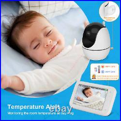 Baby Monitor with Remote Pan-Tilt-Zoom Camera, 4.5 Large Display Video Baby Mon