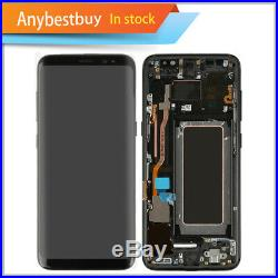 Black LCD Display Touch Screen Digitizer Frame Replacement For Samsung Galaxy S8