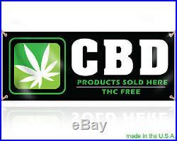CBD THC FREE Business Smoke Shop Vinyl Banner cbd oils cbd for pets