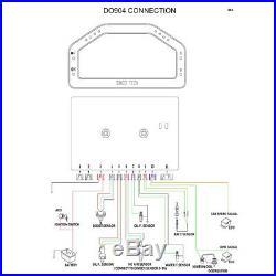 Car Dash Race Display Bluetooth Sensor Kit Dashboard LCD Screen Digital Gauge