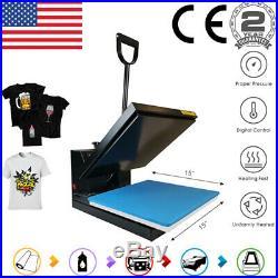 Clamshell 15x15 Heat Press Machine Digital Sublimation Transfer DIY T-Shirt US