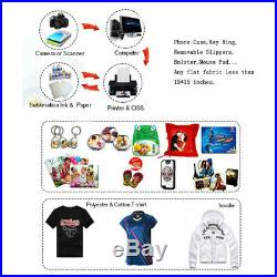 Clamshell Heat Press Machine Transfer Sublimation 15x15inch for Cloth T-Shirt US