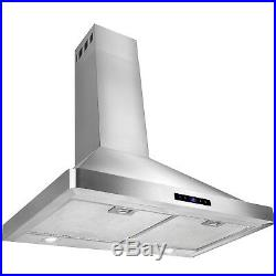 Classic 30 Stainless Steel Wall Mount Range Hood Kitchen Vent Cooking Fan