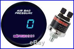 Digital Air Ride Gauge 200psi Display Air Suspension System Part Tinted LED