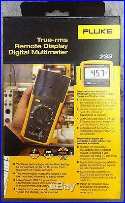 Fluke 233 True Rms Remote Display Detachable Face Digital Multimeter New