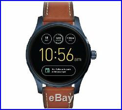 Fossil Fossil Q Marshall Display Dial Tan Leather Strap Smart Watch New Box