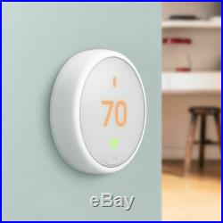 Google Nest T4000ES Learning Thermostat E (White) with 2 Pack Wi-Fi Smart Plug