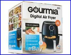 Gourmia 5 QT / 4.7 Liter Digital Air Fryer Touch LCD Display 360° Heat 1500 W