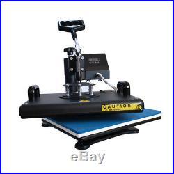 Heat Press Machine 5 in 1 Digital Transfer 12x15 for T-shirt Mug Cup Plate Hats
