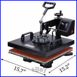 Heat Press Machine Swing Away Digital Sublimation T-Shirt Mug Plate Hat 15X15