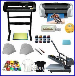 Heat press&Cutter plotter &Printer&Ink &Paper T-shirt Transfer Start-up Kit