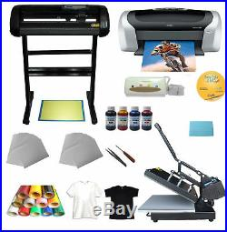 Heat press Machine Vinyl Cutter Printer Ink Paper T-shirt Transfer Start-up Kit