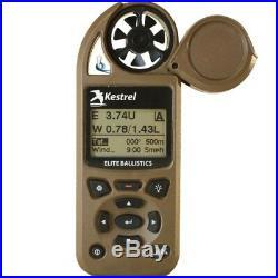 Kestrel 5700 Elite Meter w Applied Ballistics & Bluetooth LiNK Flat Dark Earth