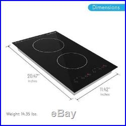 NUTRICHEF Dual Induction Cooktop, Countertop Burner w Digital Display, PKSTIND52