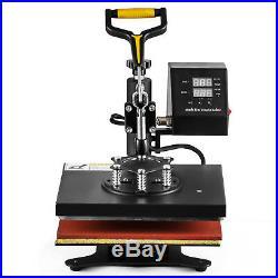 New 5 in 1 Digital Transfer Sublimation Heat Press Machine for T-Shirt Mug 12X10