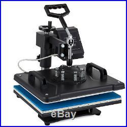 New 5in1 Digital 15X12 Heat Press Transfer Machine Sublimation T-Shirt Cap Mug