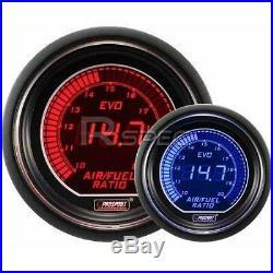 Prosport 52mm EVO Car Air Fuel Ratio AFR Red Blue LCD Digital Display Gauge