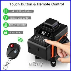 Rotary Laser Level Green 16 Lines 4D Cross Line Laser Self Leveling Measure Tool