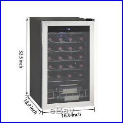 SMAD 28 Bottle Wine Fridge Beverage Cooler Wine Refrigerator Stainless Steel