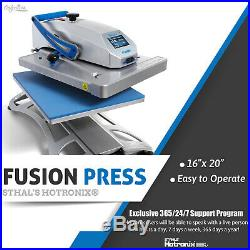 Stahls' Hotronix 16 x 20 Swing Arm Fusion Heat Press FREE Shipping