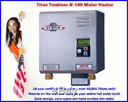 Titan Tankless N-180 Model Water Heater SCR4 electric model 220V Free ship